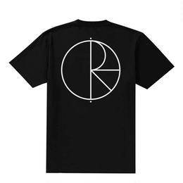 [ POLAR SKATE CO] STROKE LOGO TEE - BLACK