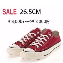 [CHUCK TAYLOR 1970`s LOW (CRIMSON)             26.5 CM]