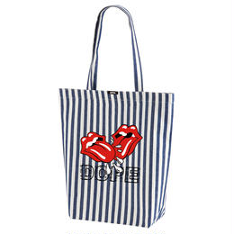 DOPE KISS COTTON TWILL TOTE BAG