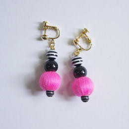 neon&stripe earrings