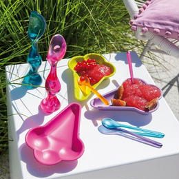 【koziol コジオル】CORNETTO アイス型プレート 同色2枚セット 食器 全3色