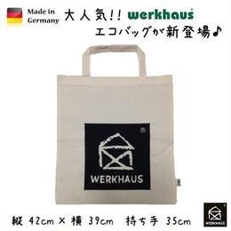 日本未入荷  ドイツ【WERKHAUS ヴェルクハウス】ロゴ エコバッグ