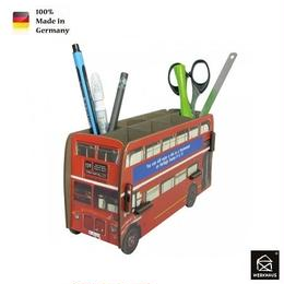 NEW☆ドイツ 【WERKHAUS(ヴェルクハウス)】組み立て式 ペンスタンド   赤 ダブルデッカー ロンドンバス