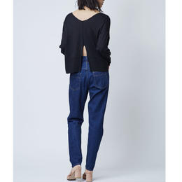 GIZA COTTON PULL OVER KNIT (BLACK)