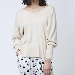 GIZA COTTON PULL OVER KNIT (BEIGE)