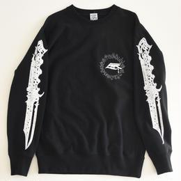 MOZYSKEY / dagger multi print sweatshirt black L