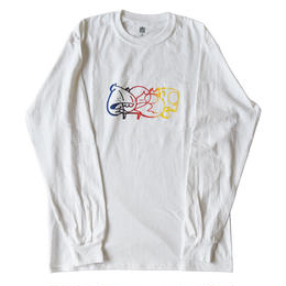 CASPER X TARIKI /  欲と我慢 L/S ポケTEE   WHITE