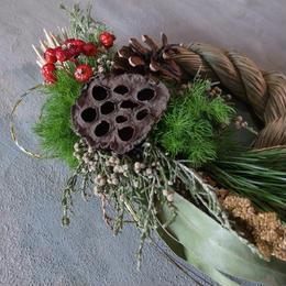 ドライフラワー しめ縄リース 送料込み wreath  dryflower3