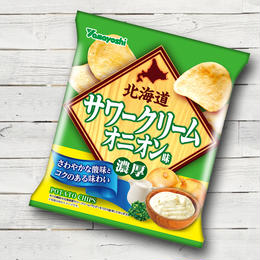 ポテトチップス 北海道サワークリームオニオン味(1ケース:12袋入り)