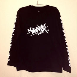 MOBSATR logo ロングスリーブTシャツ black