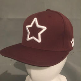 Mobstar cap Whitestar Maroon
