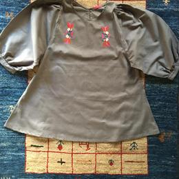 刺繍ブラウス(grey)