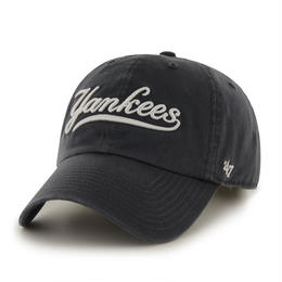 Yankees Script '47 CLEAN UP Navy