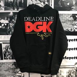 DGK × DEADLINE HOODED【BLACK】