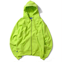 【再入荷】Lafayette OUTLINE LOGO US COTTON ZIP PARKA SWEATSHIRT (SAFETY GREEN)