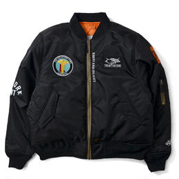 【再入荷】OLD GLORY ALLOVER PATCH FLIGHT JACKET (BLACK)