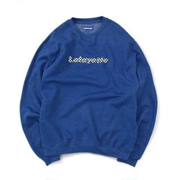【MOLLY別注】MOLLY CHECKER LOGO CREWNECK SWEATSHIRT Royal