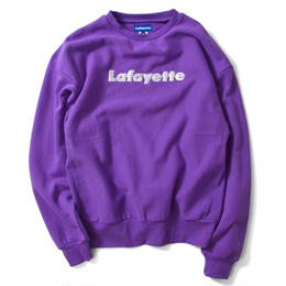 Lafayette LOGO US COTTON CREW NECK SWEATSHIRT (PURPLE)