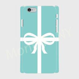 ティファニーブルーのリボンギフトボックス柄♡スマホケース♪iPhone 5/5 s/ 5c/ 6/ 6s/ 7/ 8/ SE/ X対応