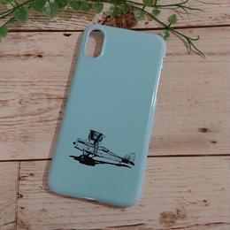 名入れ可!ティファニーブルー クラッシック飛行機モチーフ♡スマホケース♪iPhone 5/5 s/ 5c/ 6/ 6s/ 7/ 8/ SE/ X/XS対応