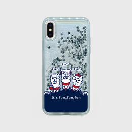 シルバースター【スマホケース】あるぱかイズム_iPhoneグリッターケース