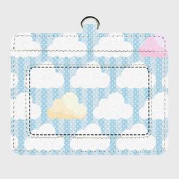 【パスケース】ズレぱんだちゃんのいないイチゴ雲の風景