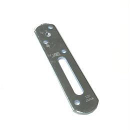 フリーステー金具 FSP100 プレート型100ミリ ユニクロ