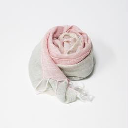 gray&pink 麻 レーヨン 京染ストール