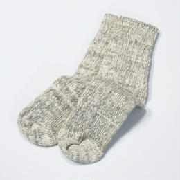 ORGANIC COTTON GARABOU SOCKS ミドル チャコール杢