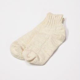 ORGANIC COTTON GARABOU SOCKS アンクル 生成