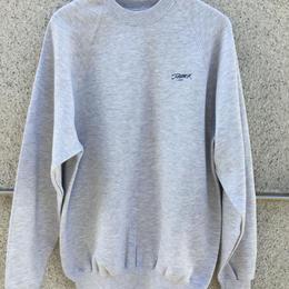 Embroidery crew neck (Grey)