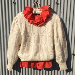 white wool nit