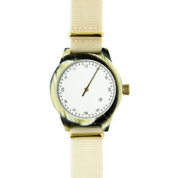 Squarestreet watches - Minuteman - One Hand - Horn / White