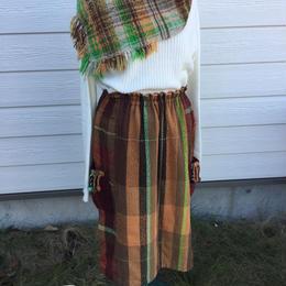 さをり織りギャザースカート