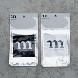 """m"" SQUARE  STICKER  BLACK"