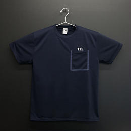 "DRY ATHLETIC ""m"" TEE/P  (ネイビー)"