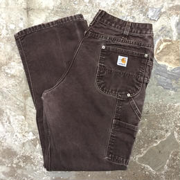 80's~ Carhartt Double Knee Painter Pants DARK BROWN