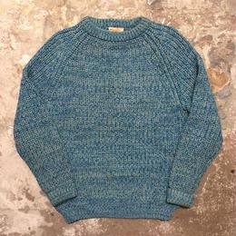 ~80's Cottage Knitwear Wool Sweater L.BLUE×M.GREEN×GREY