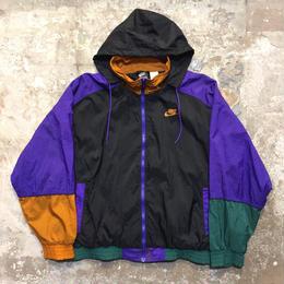 90's NIKE Nylon Jacket BLACK×PURPLE
