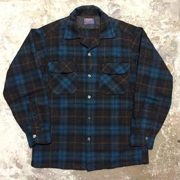 60's PENDLETON Wool Board Shirt BLUE×BLACK