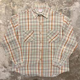 70's BIG MAC Heavy Flannel Shirt L.BLUE×GREY