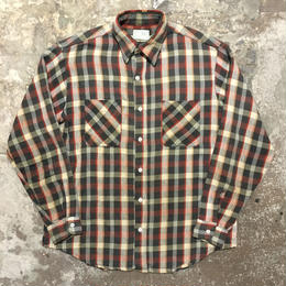 70's BIG MAC Heavy Flannel Shirt BLACK×WHITE×RED