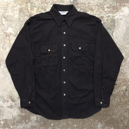 80's FIVE BROTHER Chamois Cloth Shirt BLACK