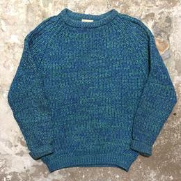 ~80's Cottage Knitwear Wool Sweater BLUE×GREEN