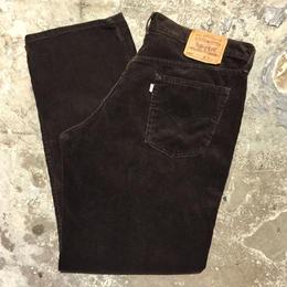 90's Levi's 565 Loose Fit Corduroy Pants DARK BROWN