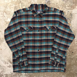 Patagonia Heavy Flannel Shirt NAVY×BROWN×T.BLUE