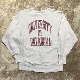 90's Champion REVERSE WEAVE Sweat Shirt OKLAHOMA.U