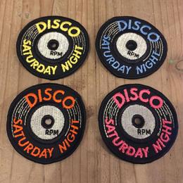 DISCO SATURDAY NIGHT 70's Vintage Record Patch