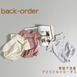 【予約商品】送料無料⑅* 韓国子供服 ✭ Hello-Goodbye ロンパース ✭