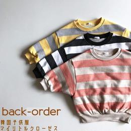 【予約商品】送料無料⑅* 韓国子供服 ✭ ボーダー プルオーバー ✭